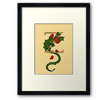 "Oscar and the Roses ""Z"" (Illuminated Alphabet) Framed Print"