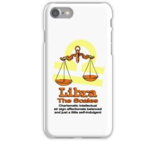 Libra the scales in orange iPhone Case/Skin