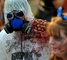 Zombie In Hazmat Suit by Stuart Blythe