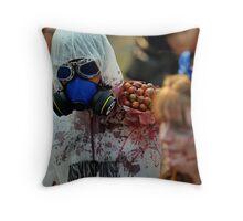 Zombie In Hazmat Suit Throw Pillow