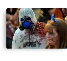 Zombie In Hazmat Suit Canvas Print