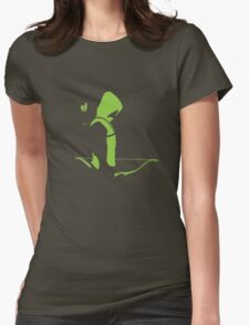 Arrow Outline Womens Fitted T-Shirt