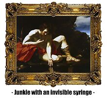 Junkie with an invisible syringe by ayay