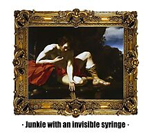 Junkie with an invisible syringe Photographic Print