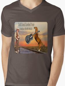 MY DESIGN~~   2012 RAILROAD REVIVAL TOUR T-SHIRT  Mens V-Neck T-Shirt