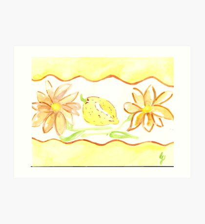 mums and lemons - kitchen rooms  Art Print
