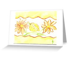 mums and lemons - kitchen rooms  Greeting Card