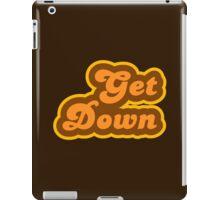 Get Down - Retro 70s - Logo iPad Case/Skin