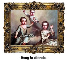 Kong Fu cherubs by ayay
