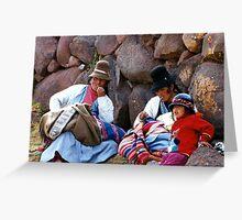 peruvian family Greeting Card