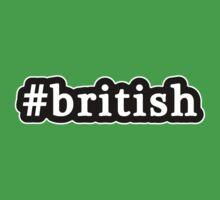 British - Hashtag - Black & White Baby Tee