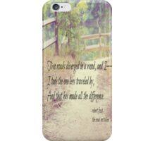 Road Not Taken Robert Frost iPhone Case/Skin