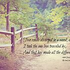 Road Not Taken Robert Frost by Kimberose