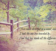Road Not Taken Robert Frost by Kimberose