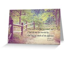Road Not Taken Robert Frost Greeting Card