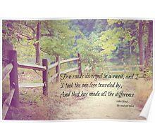 Road Not Taken Robert Frost Poster