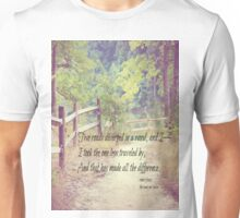 Road Not Taken Robert Frost Unisex T-Shirt