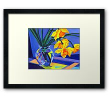 Daffodil Geometry Framed Print