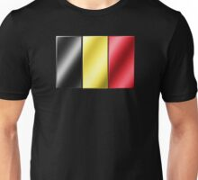 Belgian Flag - Belgium - Metallic Unisex T-Shirt