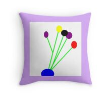 True LILAC, primary colors, abstract Throw Pillow