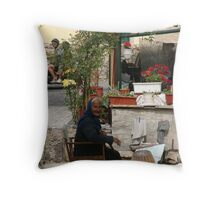 Eeee the youth of today... Throw Pillow