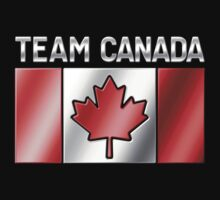 Team Canada - Canadian Flag & Text - Metallic Kids Clothes