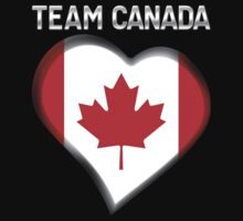 Team Canada - Canadian Flag Heart & Text - Metallic by graphix