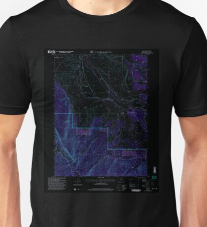 USGS TOPO Map Colorado CO Rand 234206 2000 24000 Inverted Unisex T-Shirt