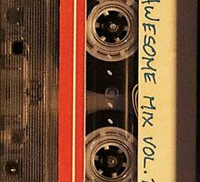 Awesome Mix tape Vol 1  Case  by SnarkySharkS