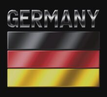 Germany - German Flag & Text - Metallic by graphix