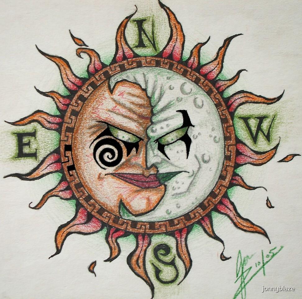 sun moon by jonnyblaze