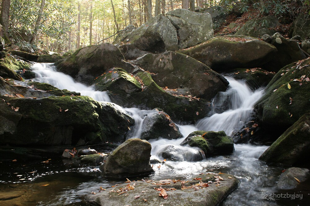 Smoky Mountain Waterfall II by shotzbyjay