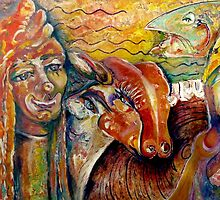 Golden Calf's Seven Faces by CrismanArt
