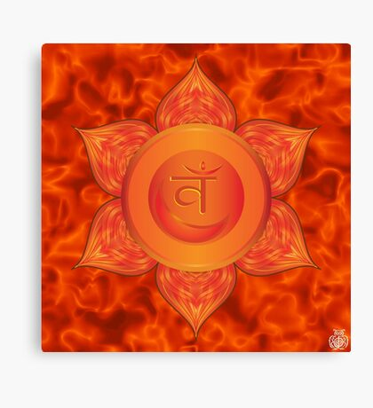 Sacral Chakra with orange flare BG Canvas Print