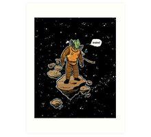 Astrozombie Art Print