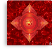 Root Chakra with red flare BG Canvas Print