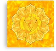 Solar Plexus Chakra  with yellow flare BG Canvas Print