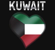 Kuwait - Kuwaiti Flag Heart & Text - Metallic by graphix