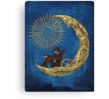 Moon Travel (Blue) Canvas Print