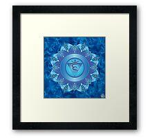 Throat Chakra with sky blue flare BG Framed Print