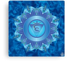 Throat Chakra with sky blue flare BG Canvas Print