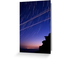 Startrails and Human Journeys Greeting Card