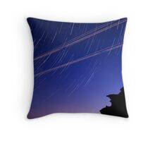 Startrails and Human Journeys Throw Pillow