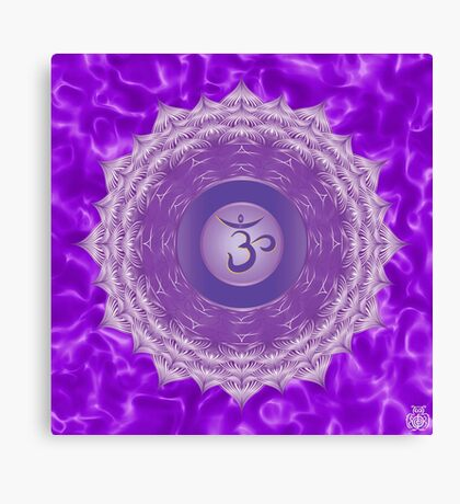 Crown Chakra with violet flare BG Canvas Print
