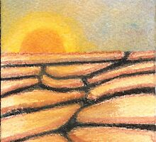 Desert Sunrise Watercolor 416 by Melinda Tarascio Lidke