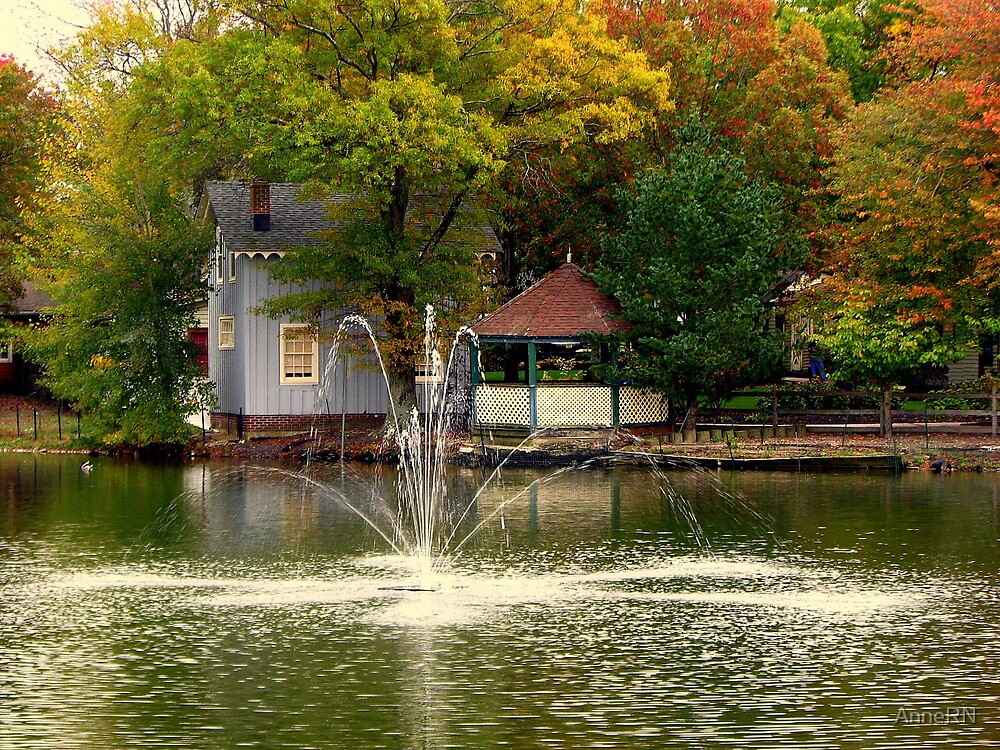 Smithville New Jersey in Autumn by AnneRN