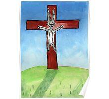 Hot Cross Bunny Poster
