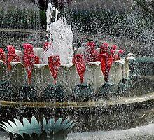 Fountain in Tivoli Gardens by Heather Thorsen