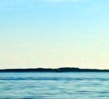 Painterly Sailboat Sailing along the Long Island Sound Sticker
