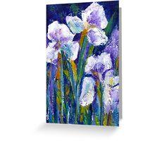 Iris Garden I Greeting Card